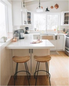 Natural Light And View Large Window In Small Kitchen