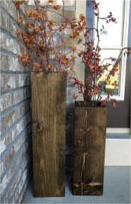Rustic Wood Floor Vases Ideas