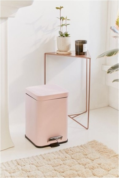 Square Small Trash Can Bedroom Decorations