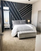 Black And White Wall Stripes