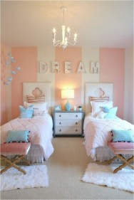 Girl Bedroom Decorations With Pink And White Color Combinations