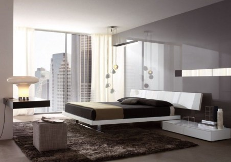 Grayscale for Bedrooms with an Amazing Half and Half Color Combination