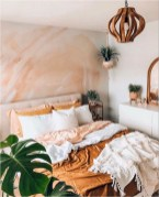 Orange Wall For Boho Bedroom