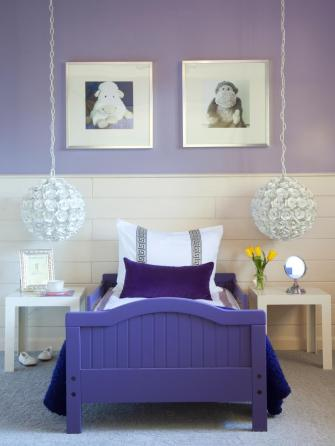 Strong and Soft for Bedrooms with an Amazing Half and Half Color Combination