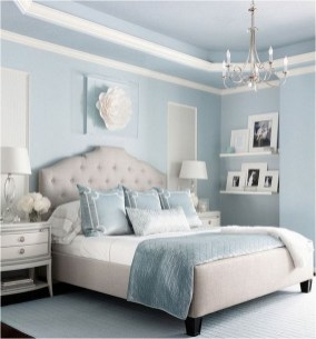 White And Blue Luxury Bedroom