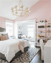 White And Pink Pastel Girl Bedroom