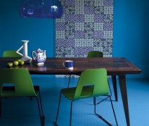 Balanced for Dining Room with All-Blue Theme