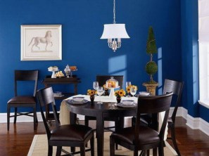 Contemporary-Modern for Dining Room with All-Blue Theme