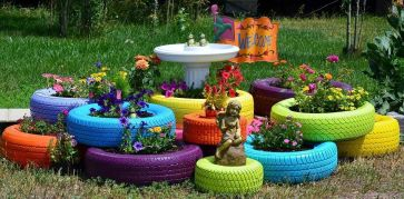 Used Tires for Amazing Garden Decorations