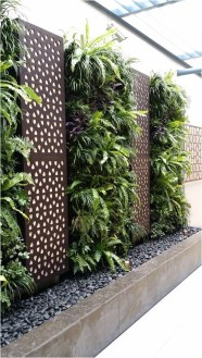 Vertical Park With Leaf Plant