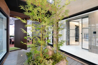 Bamboo Trees and Rocks for Home Yard Design that Has Charming Impressions