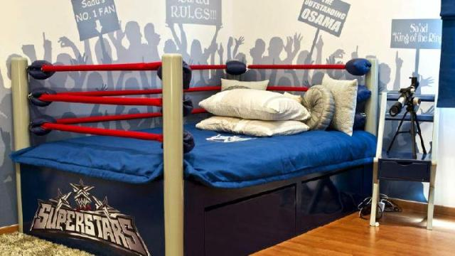 Boxing Ring for Various Unique Designs for Boys' Bedrooms