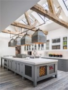 Industrial Wood And Glass Ceiling Farmhouse
