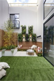 Wood Chair And Vertical Garden Ideas