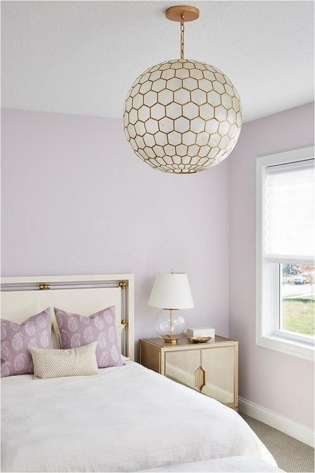 Soft Lavender With Ball Chandelier