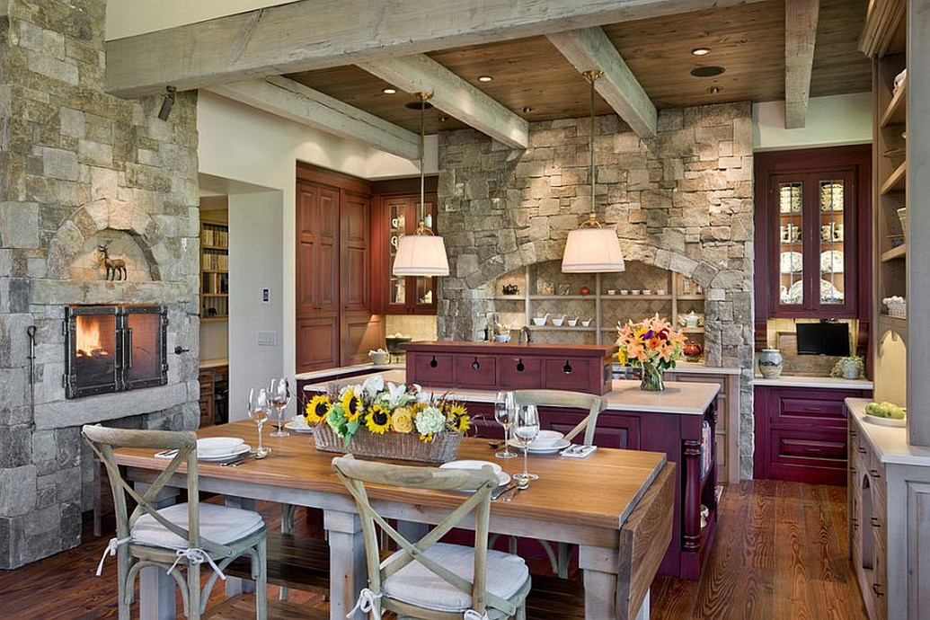 Inventive Kitchens With Stone Walls Architecturein