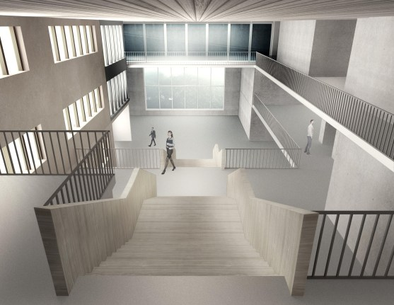 ICIMOD Annexe Building by Horizon Design Studio - 12 - Concourse View from second floor level