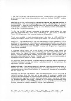 FAAA's letter to the CEPT University Governing Council