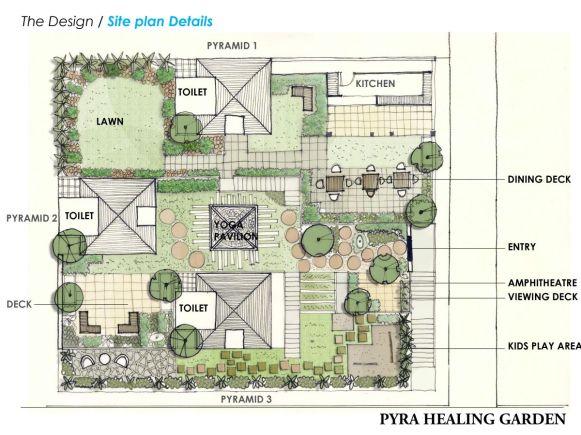 Pyra Heaing Garden-A Retreat & Meditation Garden, at Mhow, Madhya Pradesh, by Ranu Bhaskar Design Atelier
