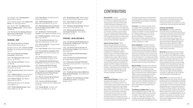 Brinda Somaya - Work and Continuities