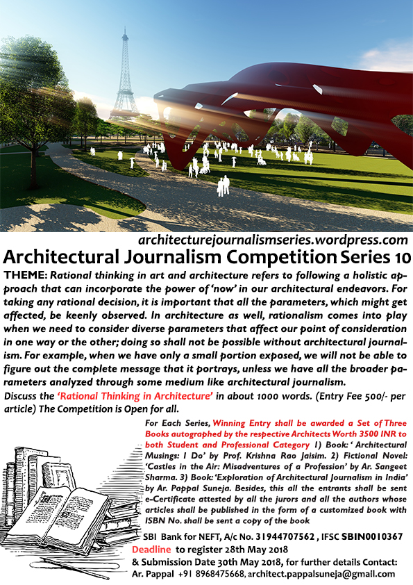 Architectural Journalism Competition Series, 2017-18 7