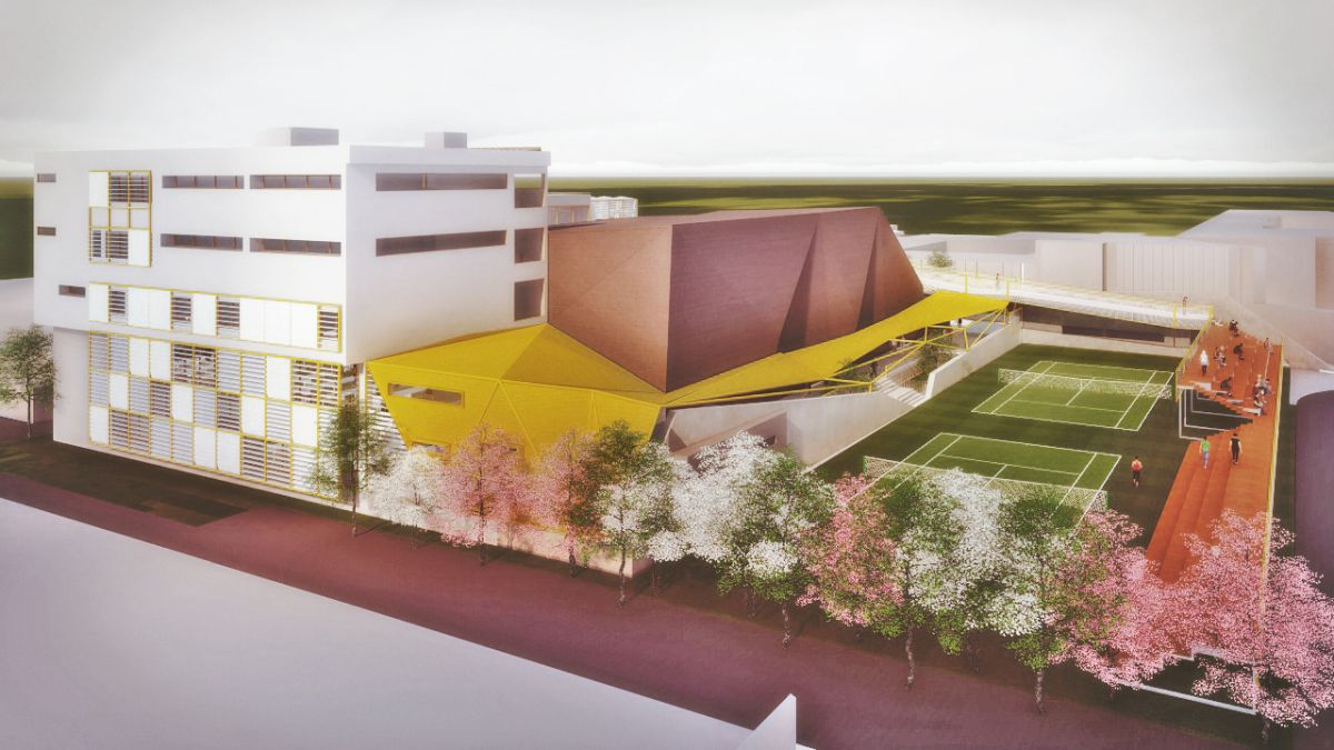 Unbuilt Architectural Project: Multisport Complex, Flyying Seeds
