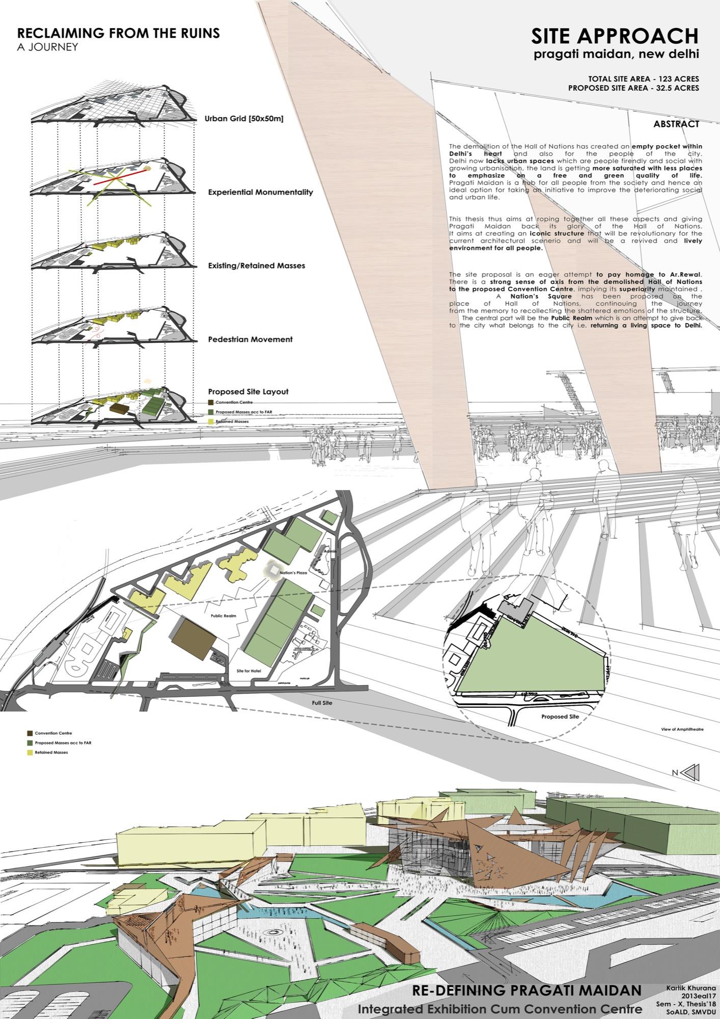 B.Arch Thesis: Redefining Pragati Maidan, International Convention Cum Exhibition Centre, by Kartik Khurana 5