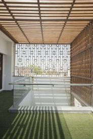 16 Wooden louvers as shading device
