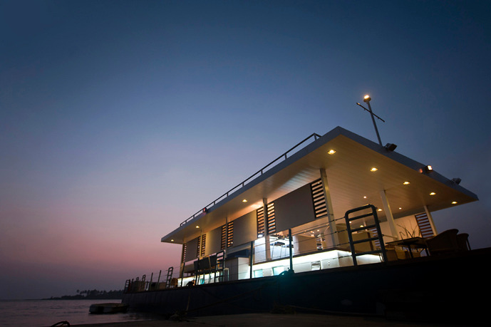 Floating Barge Restaurant, Goa- by SDM Architects