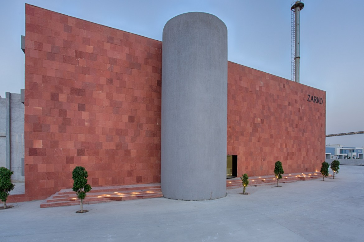Zarko, office for ceramic tile manufacturing company at Morbi, Gujarat, by Bridge Studio 1
