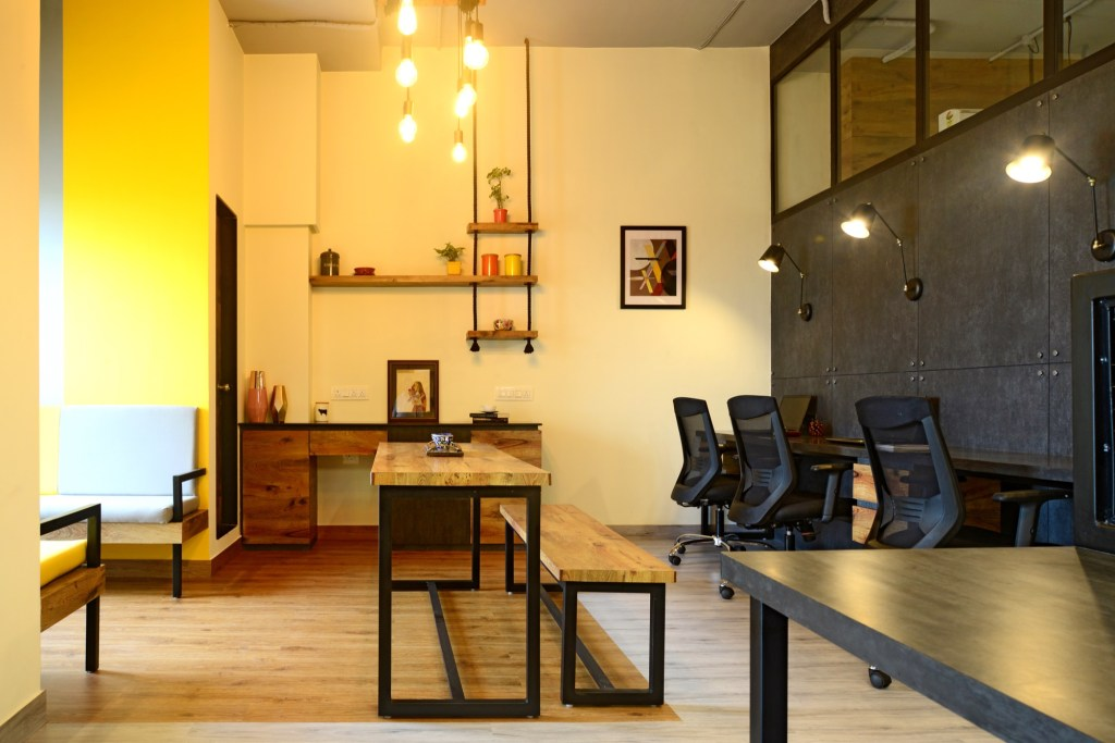 YELLOW IS THE NEW BLACK, Auronova Office at Mumbai - by THE DESIGN CHAPEL 5