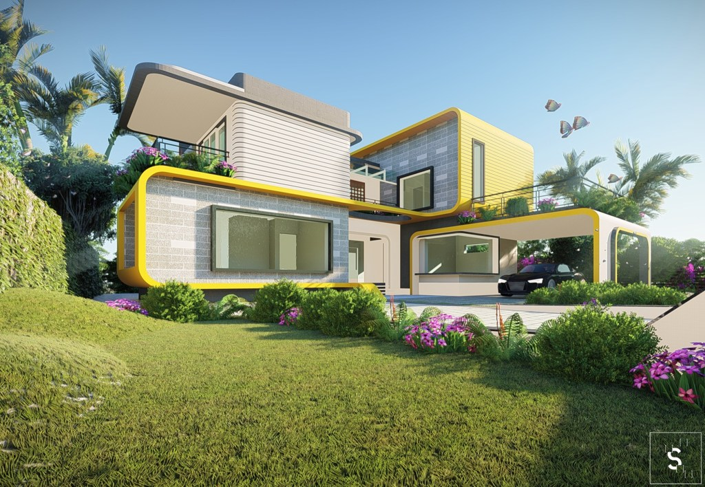 The Fluid House for Dr. Gerald and Anila, at Kottayam, by MySPACE Architects 10