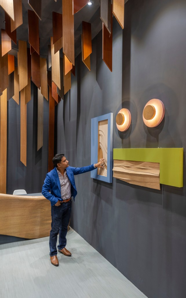 Exhibition Space at ACETECH, for Legend Ply and Veneers, by Spaces Architects @ka 29
