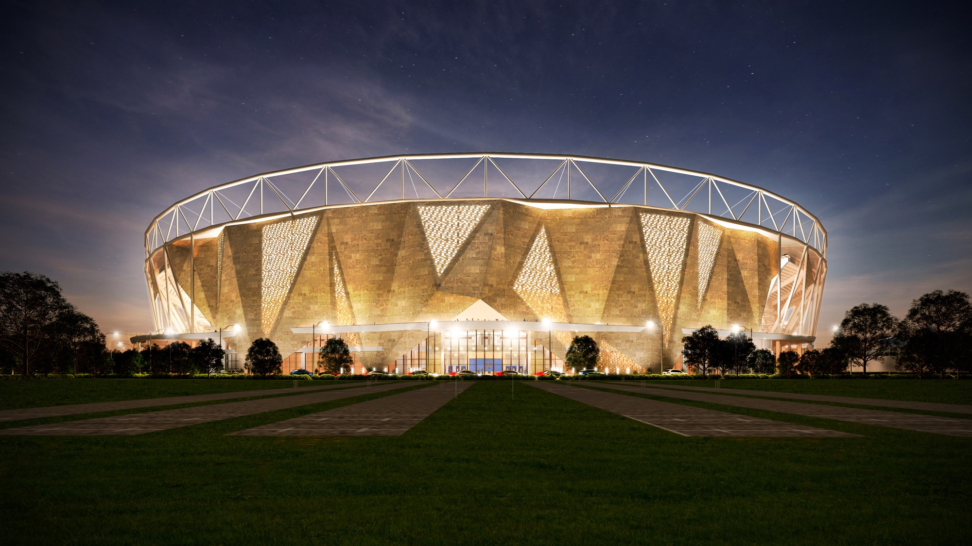 World's largest cricket stadium at Motera by Populous
