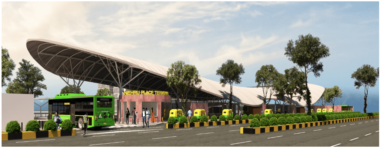 Nehru Place Bus Terminal Design - Space Matters