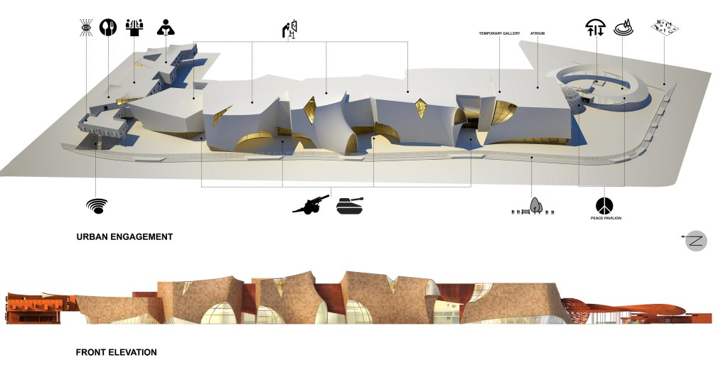 Shortlisted Competition Entry: National War Museum at New Delhi, by Collaborative Architecture 3