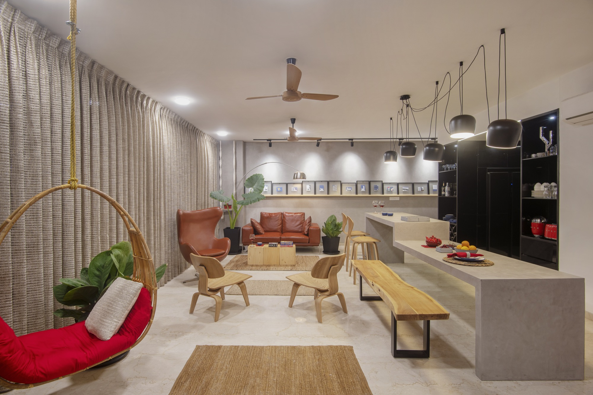 ESQUIRE: Interior Design for a residential Apartment at Mumbai, by Limehouse Design Studio 9
