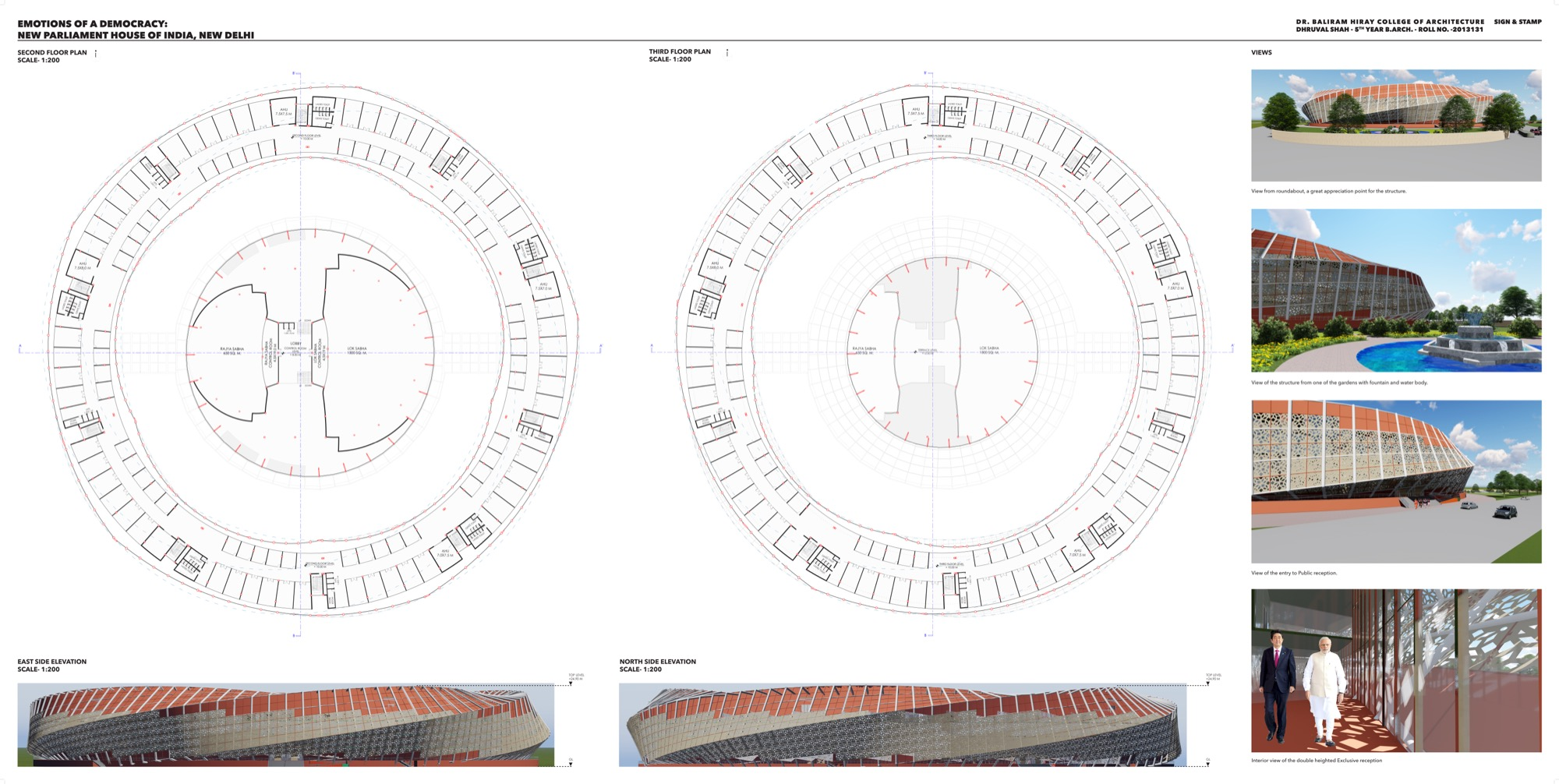 B.Arch Thesis: Emotions of a Democracy: New Parliament House of India, New Delhi Dhruval Shah 20