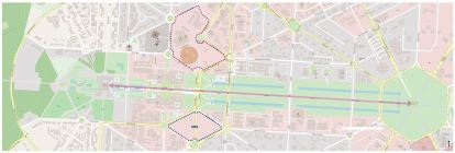 Proposed site and New Delhi Master Plan