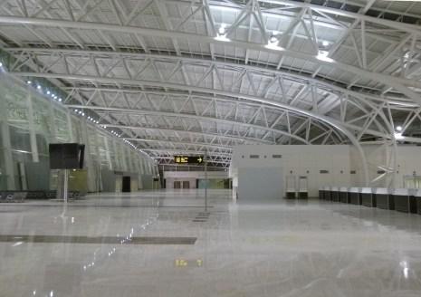 View of departure halls