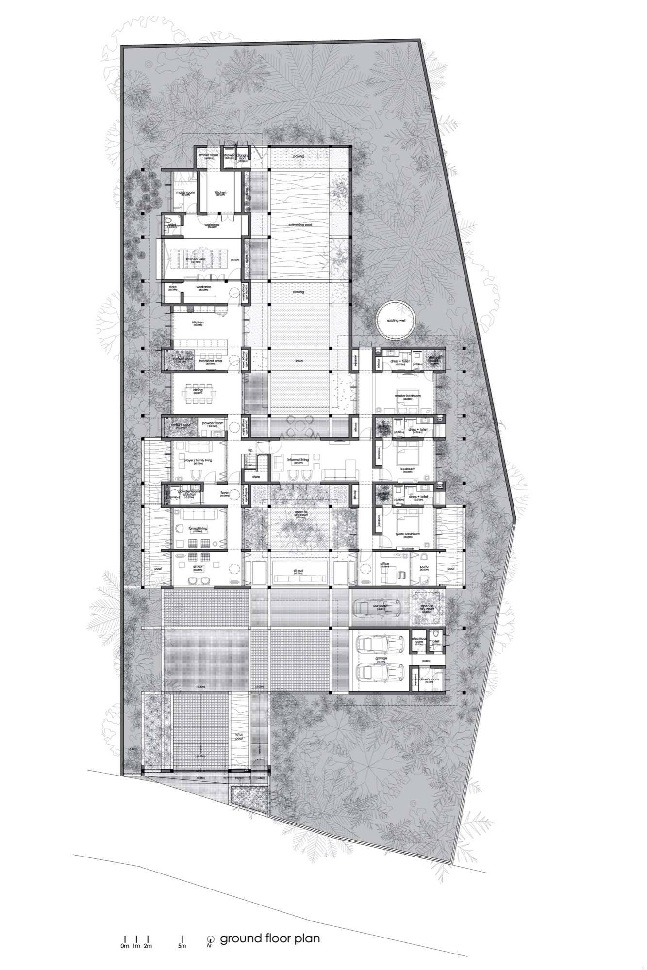 The House Within The Grid, at Thrissur, Kerala, by LIJO.RENY.architects 3