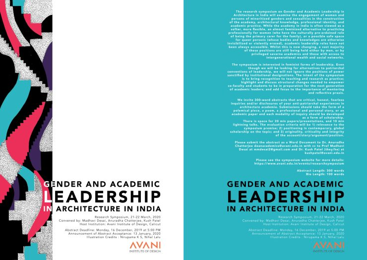 CALL FOR PAPERS: Gender and Academic Leadership in Architecture in India, Avani Institute of Design 3