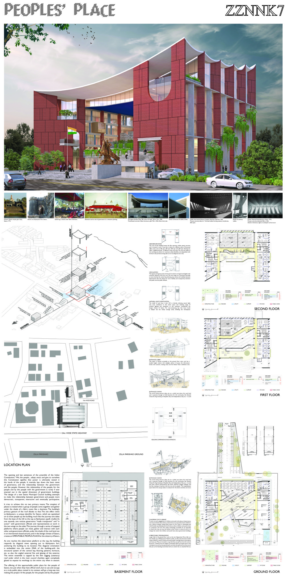 For People: Municipal Building for Satara, competition entry by S+Ps - Pinkish Shah and Shilpa Gore 11