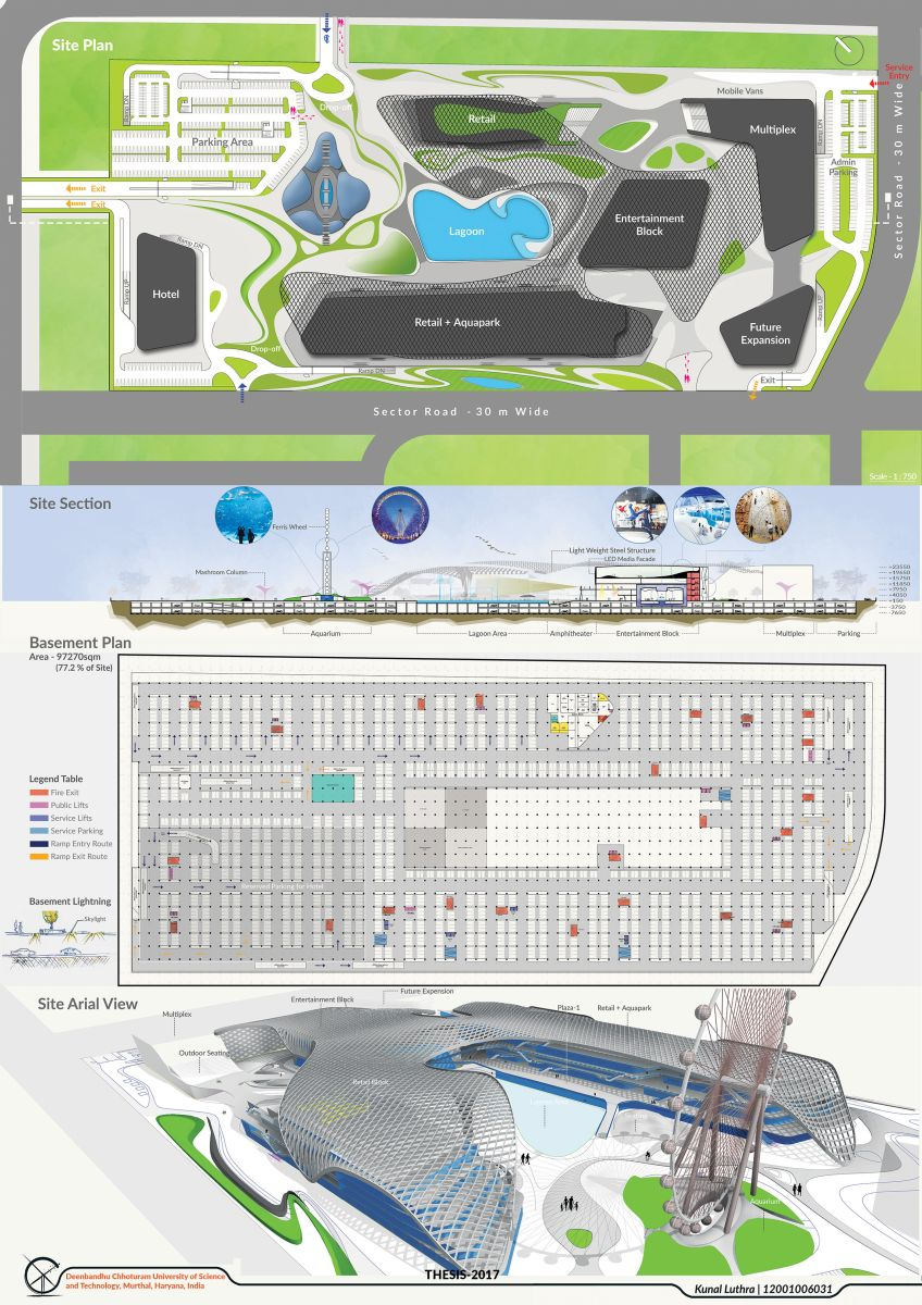 B.Arch Thesis : URBAN ENTERTAINMENT CENTRE, at Noida by KUNAL LUTHRA 60