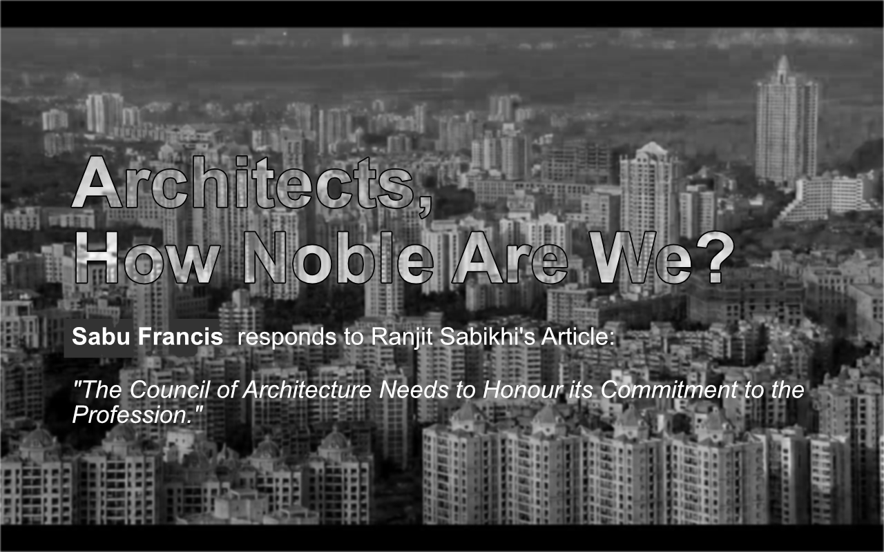 Sabu Francis -ArchitectureLive! Article