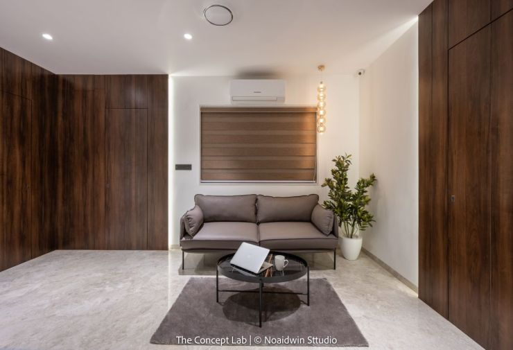 Penthouse By The River, at Dumas road, surat, by The Concept Lab 5