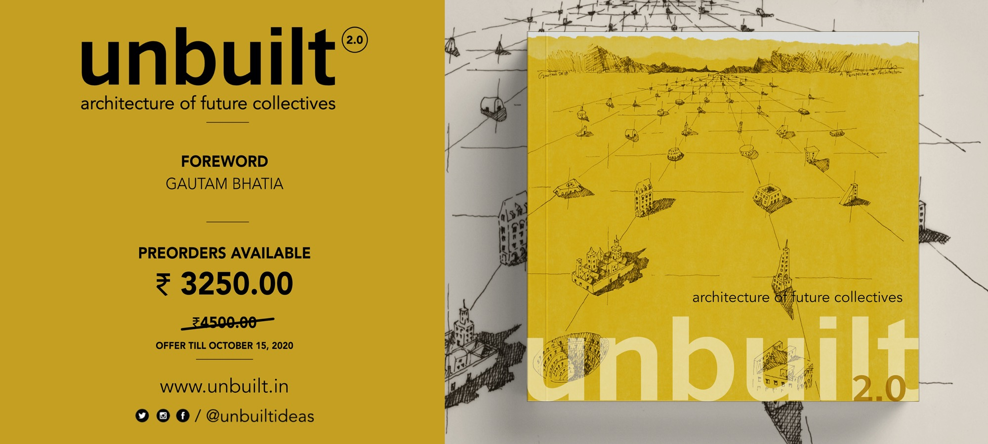Preorder Banner- Unbuilt 2.0: Architecture of Future Collectives