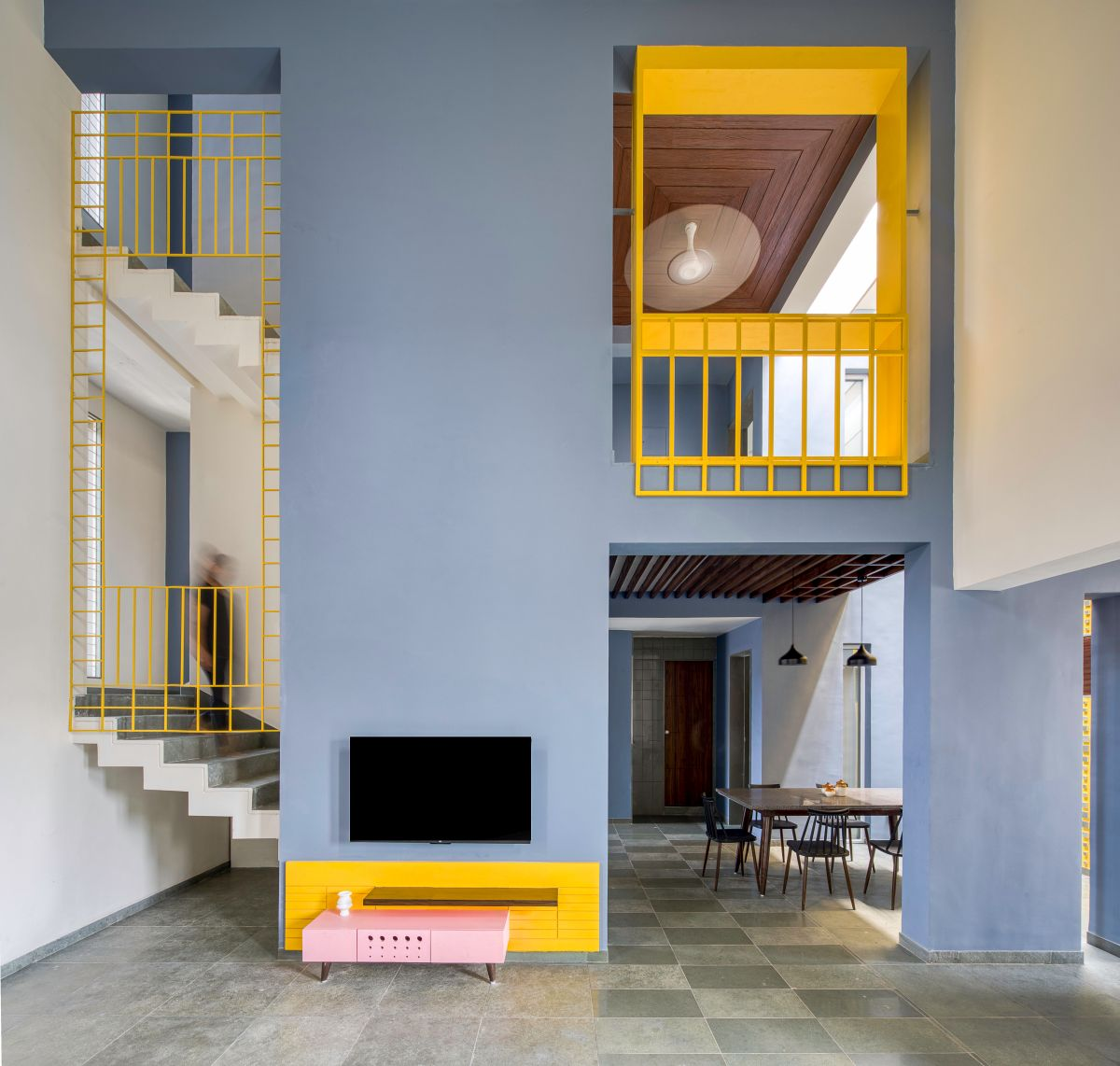 Clay roof tiles façade to minimize heat gain and has decorative function, at Vadodara, by Manoj Patel Design Studio 17
