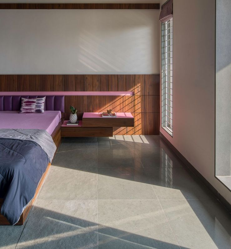 Clay roof tiles façade to minimize heat gain and has decorative function, at Vadodara, by Manoj Patel Design Studio 60