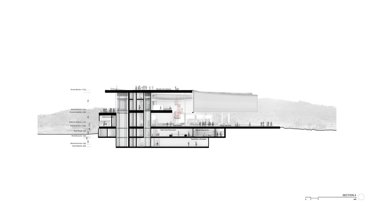 WINNING PROPOSAL FOR THE NEW SANTIAGO'S MUSEUM (NuMu), at Santiago, Chile, by Claudio C. Araya 48